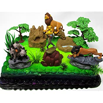 Prime Lion King Birthday Cake Topper Set Featuring Mufassa Zazu Pumbaa Funny Birthday Cards Online Overcheapnameinfo
