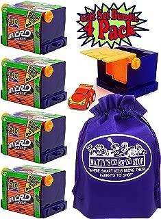 Micro Wheels Mini Motorized Machines Mystery Vehicles with Bonus Matty's Toy Stop Storage Bag - 4 Pack