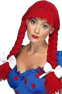 red yarn braid wig