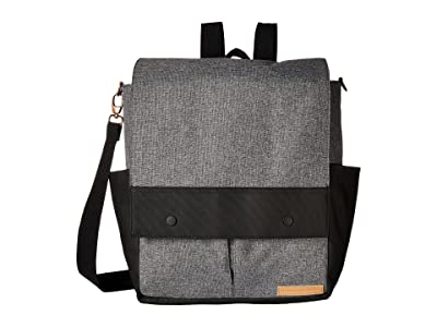 petunia pickle bottom Glazed Color Block Pathway Pack (Graphite/Black) Diaper Bags
