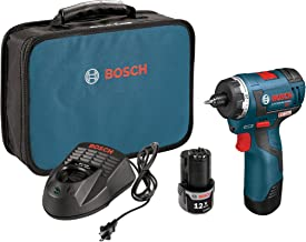Bosch PS22-02 12-volt Max Brushless Pocket Driver Kit with 2.0Ah Batteries, Charger and Case