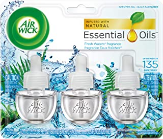 Air Wick Scented Oil Air Freshener, Fresh Waters Scent, Triple Refills, 0.67 oz (Pack of 2)