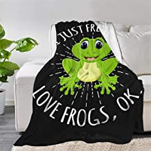 Multi-Styles I Just Freaking Love Frogs Ok Throw Blanket Quilt Bedspread Fleece Flannel Soft Couch Home Decor Luxurious Wa...