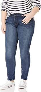 Lucky Brand Women's Plus Size Mid Rise Ginger Skinny Jean in Barrier
