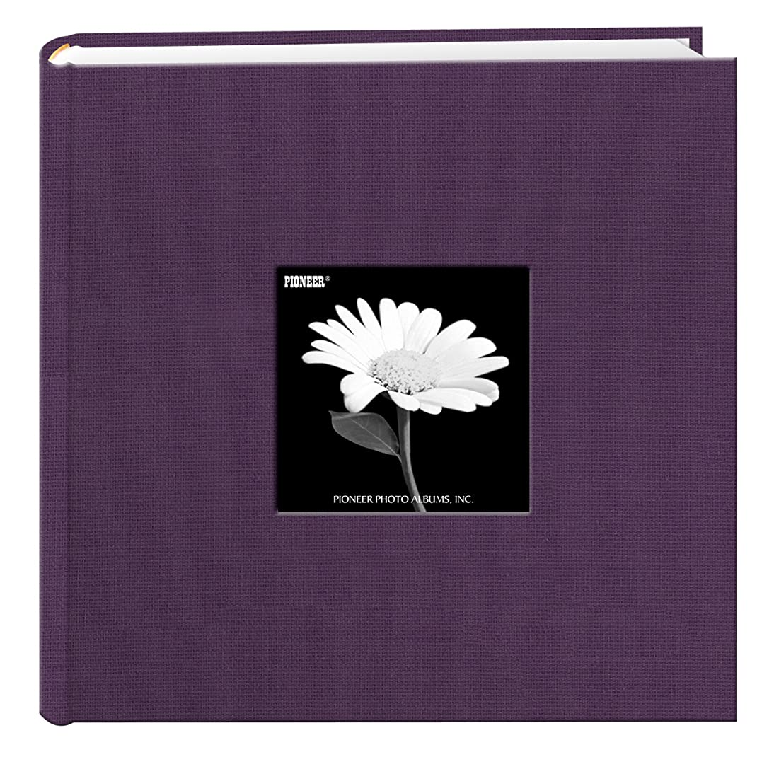 Fabric Frame Cover Photo Album 200 Pockets Hold 4x6 Photos, Wildberry Purple