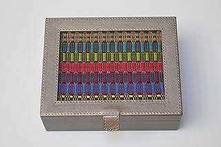 Urbanic   Caja para Té con Bordado Artesanal - Color Metálico