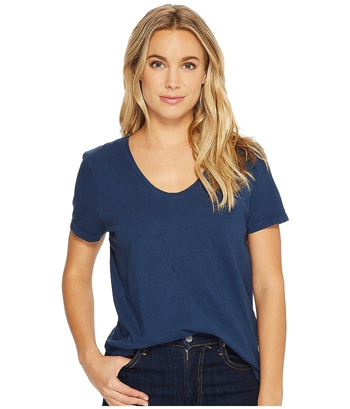 Richer Poorer Scoop V Tee (Navy) Women's T Shirt