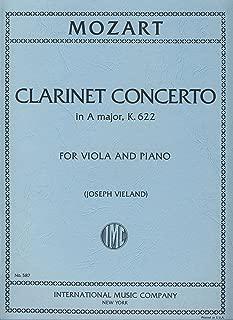 MOZART - Concierto para Clarinete (K.622) para Viola y Piano (Vieland)