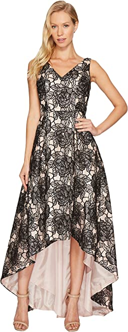 Calvin Klein - Sequin Flower Print Embroidery High-Low Gown CD7BC07L