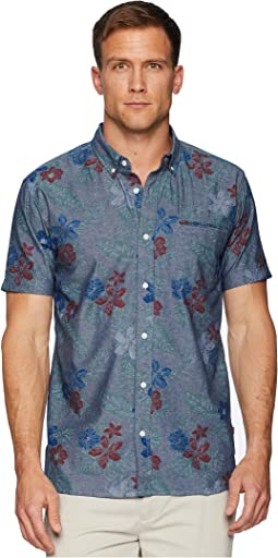 Ozo Printed Chambray Short Sleeve Shirt