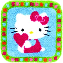 Vervaco Latch Hook Rug: Hello Kitty with a Heart