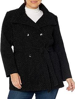Calvin Klein womens Womens Plus Sized Double Breated Wool Coat