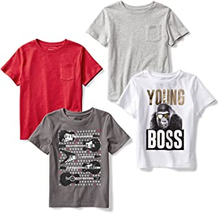 Spotted Zebra Disney Star Wars Marvel Short-Sleeve T-Shirts Athletic-Shirts Niños (Pack de 4)