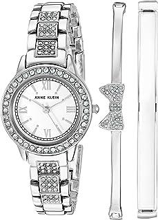 Women's Swarovski Crystal Accented Bracelet Watch and...
