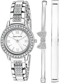 Women's Swarovski Crystal Accented Bracelet Watch and Bangle Set, AK/3334