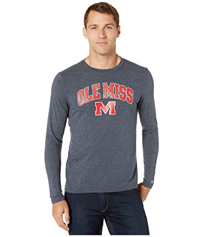 Champion College Ole Miss Rebels Field Day Long Sleeve Tee (Navy) Men