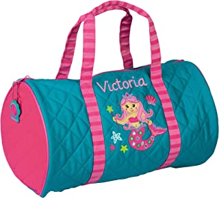 Personalized Stephen Joseph Mermaid Quilted Duffle Bag with Embroidered Name