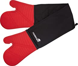 MasterClass Double Oven Glove, Silicone/Cotton, Black/Red, Double
