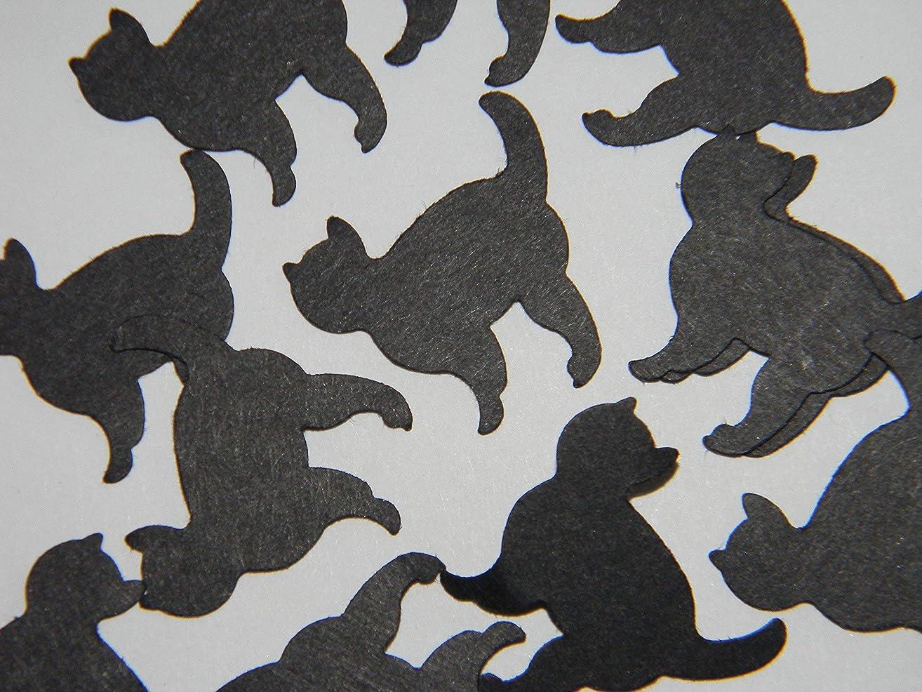 100 Small black cat Confetti - Halloween party supplies decor confetti