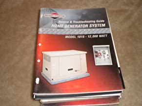 Service & Troubleshooting Guide for Home Generator System Model 1815