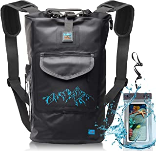 Waterproof Dry Bag for Camera - Submersible Backpack with Double Fixing Lock and Smart Storage - Drybags for Kayak Boating, Float, Canoe, and Other Water Activities