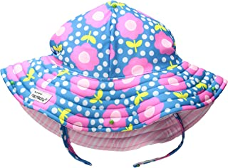 Flap Happy Girls' Toddler UPF 50+ Summer Splash Swim Hat