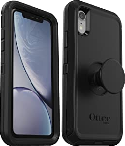 OtterBox + Pop Defender Series Case for iPhone XR (ONLY) Non-Retail Packaging - Black