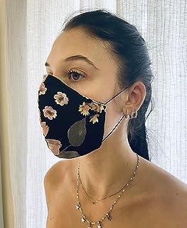 Mascherina Unisex Lavabile 100% cotone a fantasia floreale