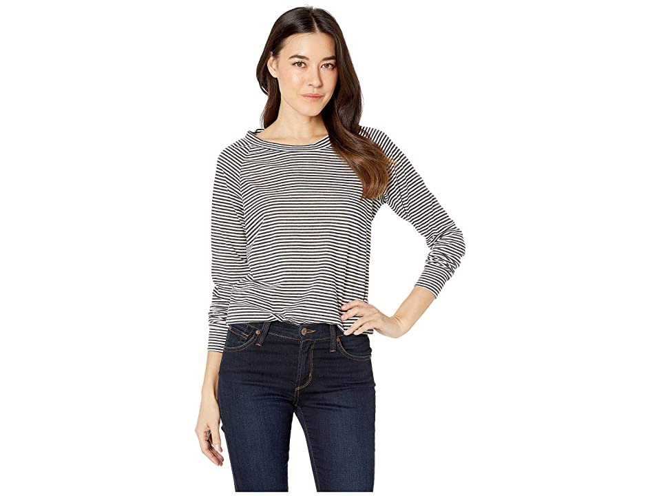 Alternative Striped Slouchy Pullover (Eco Black Classic Stripe) Women