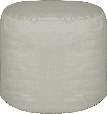 Amazon.com: Large Round Pouf Cover Ottoman Footstool Cover