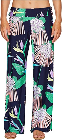Midnight Paradise Roll Top Wide Leg Pant Cover-Up. Trina Turk