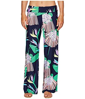 Midnight Paradise Roll Top Wide Leg Pant Cover-Up