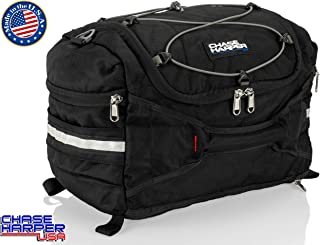 Chase Harper USA 4200 Hideaway Tail Trunk - Water-Resistant, Tear-Resistant, Industrial Grade Ballistic Nylon - Universal Fit Adjustable Bungee Mounting System - Black