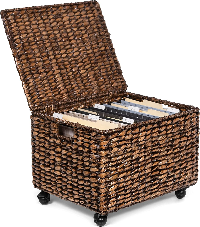BIRDROCK HOME Rolling 商品追加値下げ在庫復活 File Cabinet Organizer - 半額 Box Storage with