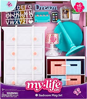 """My Life As Bedroom Play Set for 18"""" Doll, 16 Pieces"""