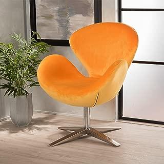 Christopher Knight Home Athena Velvet Accent Chair, Orange