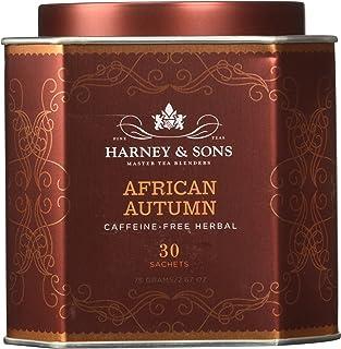 Harney & Sons African Autumn, Caffeine-Free Herbal Tea, 30 Sachets, 2.67 oz (75 g)
