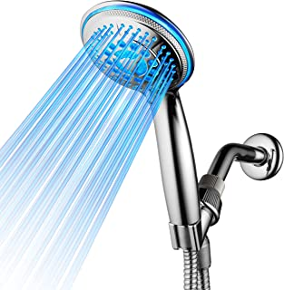 DreamSpa All Chrome Water Temperature Controlled Color Changing 5-Setting LED Handheld..