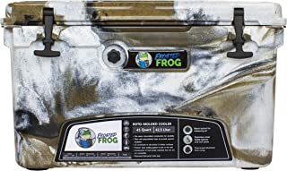 Frosted Frog Desert Camo 45 Quart Ice Chest Heavy Duty High Performance Roto-Molded Commercial Grade Insulated Cooler