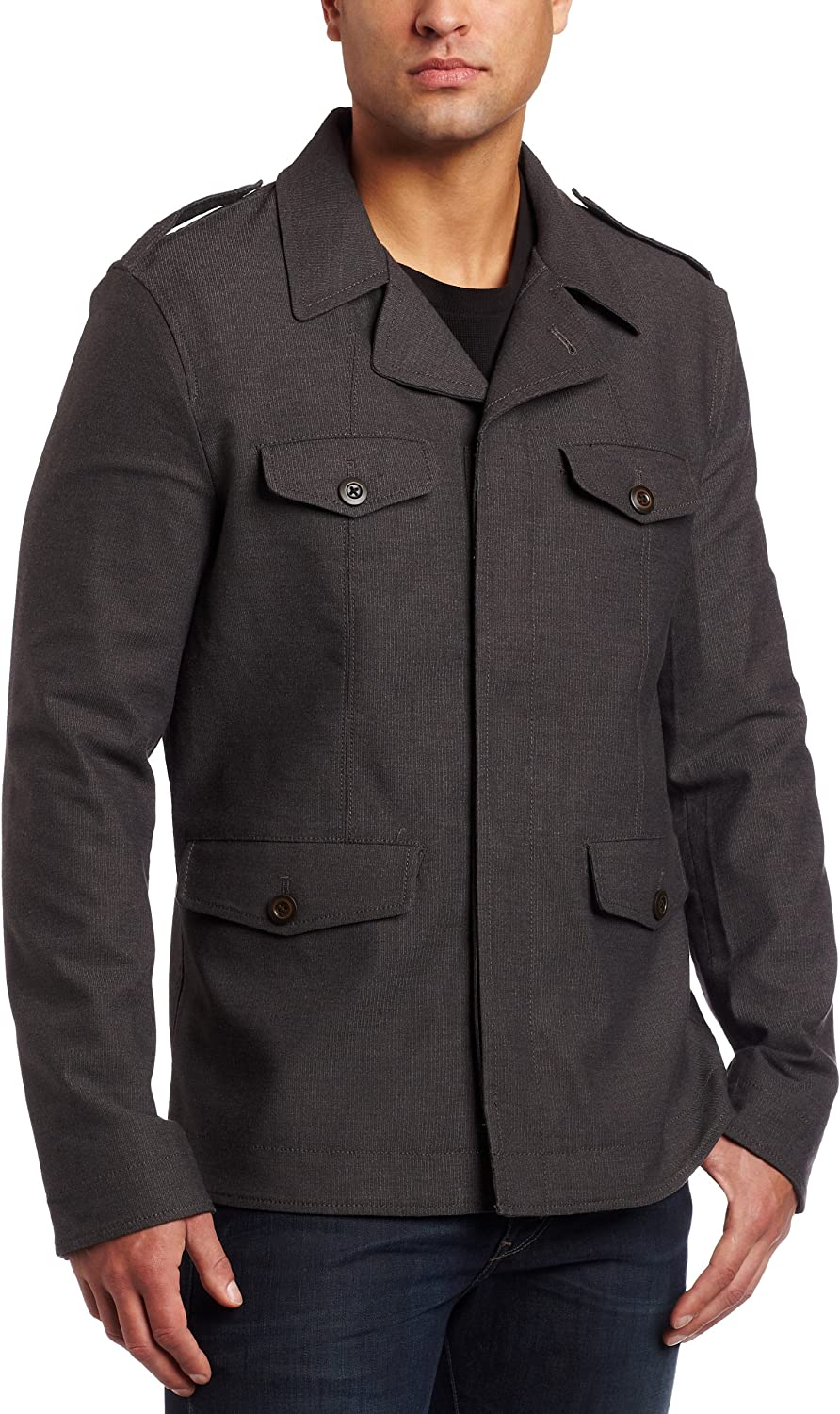 Converse by John Varvatos Men's Fine Wale Cord Military Jacket