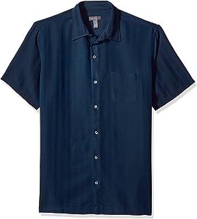 Van Heusen Men's Air Short Sleeve Button Down Poly Rayon...