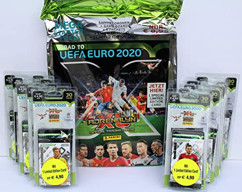 Panini Adrenalyn Road to UEFA Euro 2020 - Starter + Set 10 Blister inklusive Limited Edition