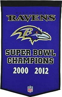 Winning Streak NFL Baltimore Ravens Dynasty Banner