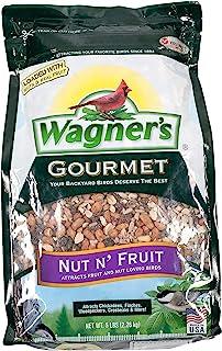 Wagner's 82072 Gourmet Nut & Fruit Wild Bird Food, 5-Pound Bag,Black