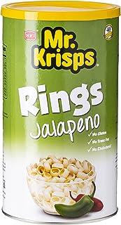 Mr Krisps Potato Rings Jalapeno Flavor Chips, 65 gm