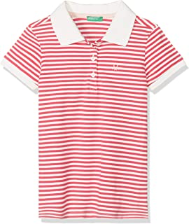 United Colors of Benetton Logolu Desenli Polo Tişört Kız çocuk Polo Yaka T-Shirt