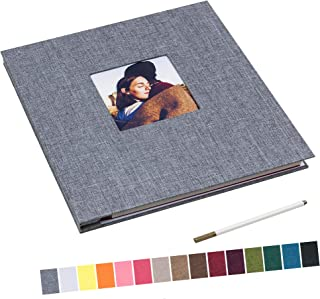 13.2x12.8 Inch Large Self Adhesive Photo Album Magnetic Scrapbook Album 40 Magnetic Double Sided Pages Linen Hardcover DIY...