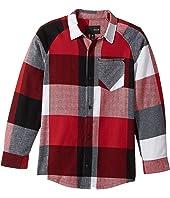 Hurley Kids - Flannel Long Sleeve Raglan Top (Big Kids)