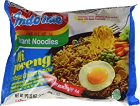 Indomie Instant Fried Noodles BBQ Chicken Flavor for 1 Case (30 Bags)