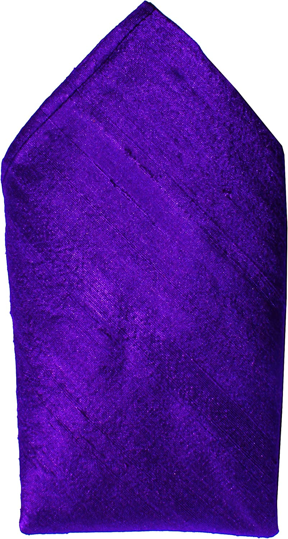Royal Purple Dupioni Silk Handkerchief - Full-Sized 16